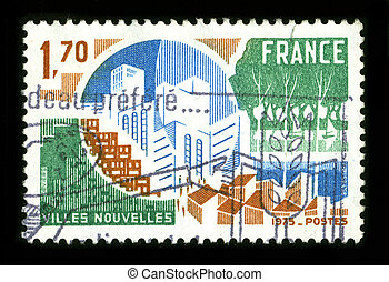 Postage stamp. - FRANCE - CIRCA 1975: A stamp dedicated to...