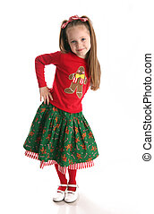 Christmas holiday girl - Portrait of an adorable preschool...