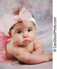 Ballerina baby - Portrait of a beautiful baby girl wearing a...