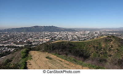 Valle Vista Trail panorama in Glendale, CA
