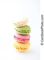 Macaroons. Delicate and delicious macaroons in pastel...