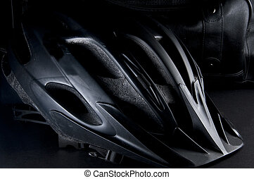 Black Bike Helmet - Black Mt Bike Helmet