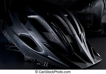 Black Bike Helmet - Black Mt Bike Helmet