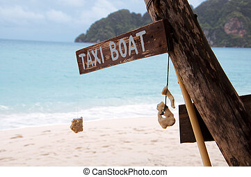 Taxi boat on Thailand - Taxi boat station on Thailand