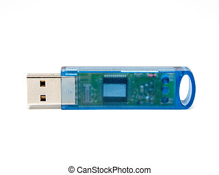USB Dongle - USB dongle protection key on a white background...