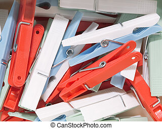 Clothespins - Several clothespins in different colors