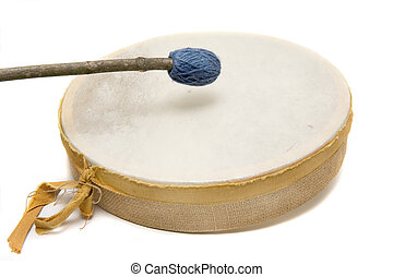 Handmade Drum - Handmade reindeer leather drum