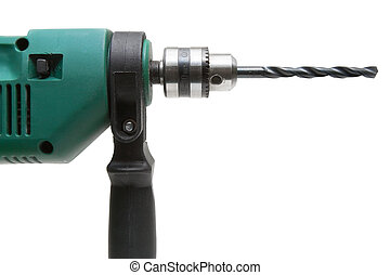 Drilling Machine - Electric drilling machine isolated on a...