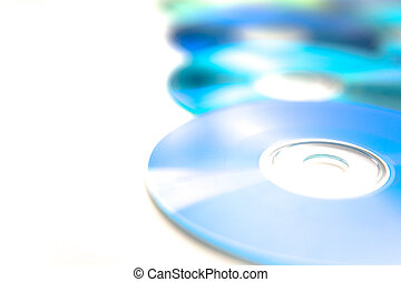 Compact Discs - Recordable compact discs in an array -...