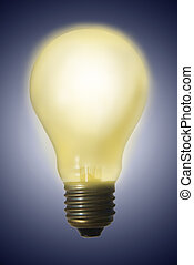 Glowing Light Bulb - Glowing electric light bulb - great...