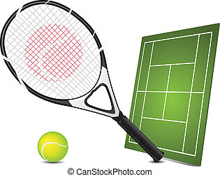 Tennis design elements - Vector illustration of tennis...