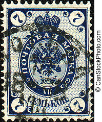 Russian Empire, 1884 - RUSSIAN EMPIRE - CIRCA 1884: A stamp...