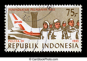 Postage stamp. - INDONESIA - CIRCA 1985: A stamp dedicated...