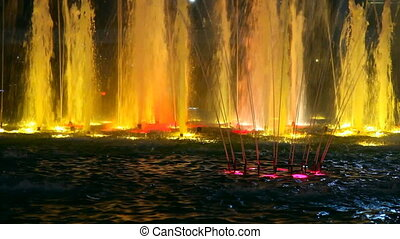 Light colour fountain.