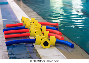 equipment in the pool