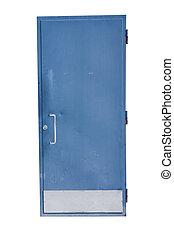 Door - Heavy-duty door isolated on a white background