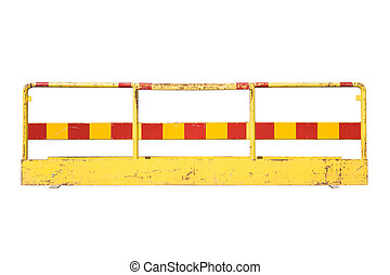 Barricade isolated on a white background