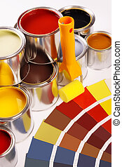 Painting apartment, a lot of paint,