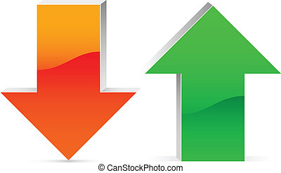 up and down arrow - red and green up and down arrow