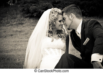 Bride and Groom Together - Bride and groom together after...