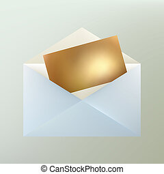 Letter. EPS 8 - Open Letter. EPS 8 vector file included