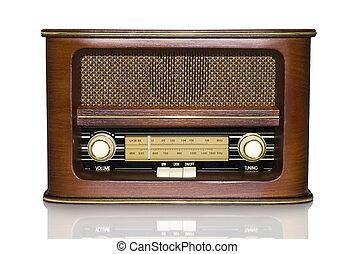 Retro Radio - Funky Retro Radio with Mirror Effect Isolated...