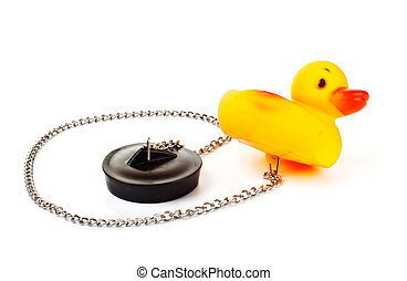 toy duck with plug for bath