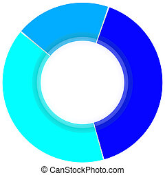 Color Pie Diagram - Colorful 3d pie graph isolated on white