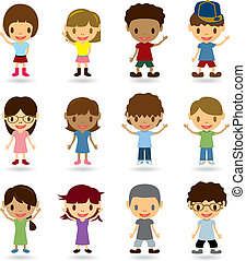 Kids Model Set - Illustration vector