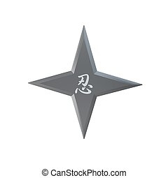 ninja star Shuriken isolated on white background