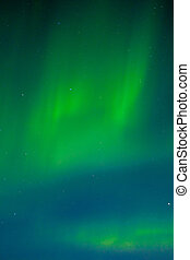 Night sky with dancing Aurora borealis - Clear night sky...