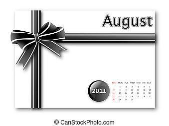 August of 2011 calendar
