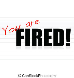 You are fired illustration design