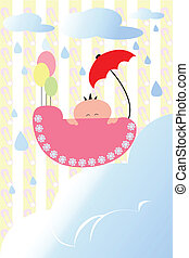 Baby shower - A vector illustration of a baby shower card