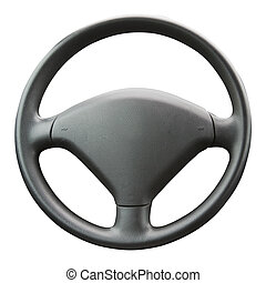 Steering Wheel - Steering wheel isolated on a white...