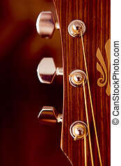 Guitar - Detail of a beautiful acoustic guitar