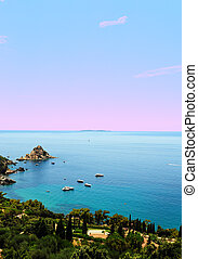 Italian Seascape - Typical Italian Seascape With Hills And...