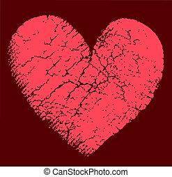 Vector illustration of broken heart - Vector illustration of...