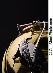 Saxophone - Tenor saxophone detail lower end
