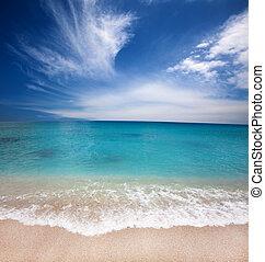 Beautiful beach and summer time - Beautiful beach and summer...