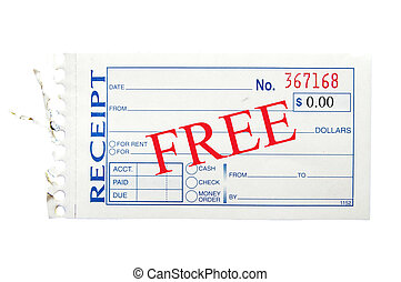 Pictures of blank generic paper receipt, on white csp4793928 ...