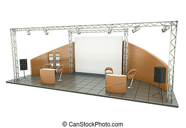Trade Exhibition Stand - Trade exhibition stand 3D rendered...