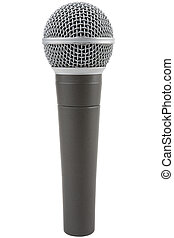Microphone - Professional vocal microphone isolated on a...