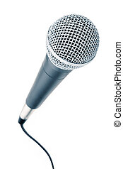Microphone - Professional microphone with a cable connected