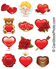 valentines icons - Vector illustration - valentines day icon...