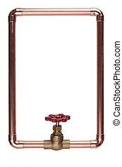 Frame - The frame is made from copper water pipes.