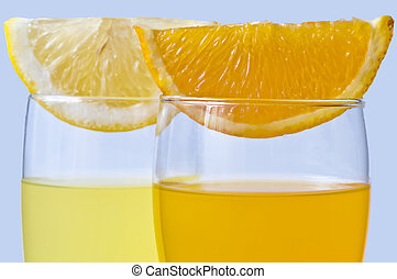orange juice and lemon juice