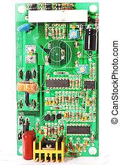 Microcircuit - Part of  green microcircuit closeup