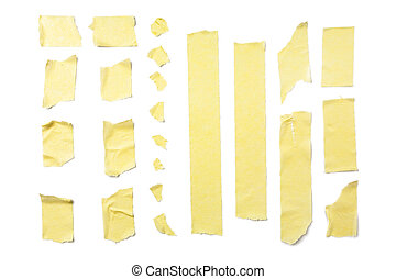Masking Tape Strips - Strips of masking tape isolated on...