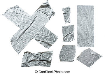 Duct Tape Strips - Strips of duct tape isolated on white...